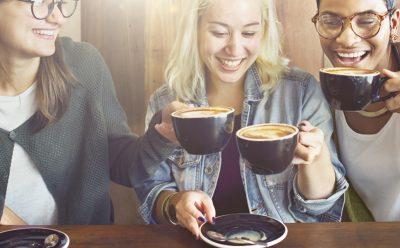 women having coffee together