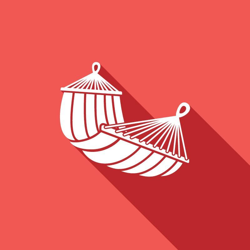 vector image of a hammock demonstrating pelvic floor